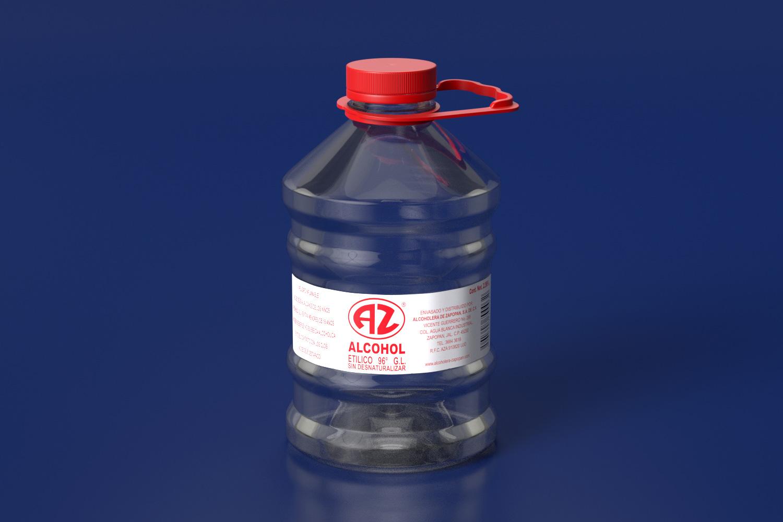 ALCOHOL ETILICO 96% 5LT